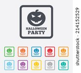 halloween pumpkin sign icon.... | Shutterstock .eps vector #214152529