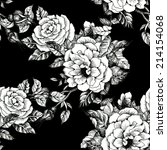floral seamless pattern with... | Shutterstock . vector #214154068
