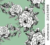 floral seamless pattern with... | Shutterstock . vector #214154098