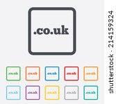 domain co.uk sign icon. uk... | Shutterstock .eps vector #214159324