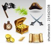 pirate set | Shutterstock .eps vector #214162108
