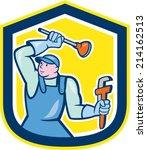 illustration of a plumber... | Shutterstock .eps vector #214162513