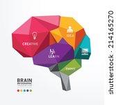 vector brain design conceptual... | Shutterstock .eps vector #214165270