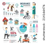 insurance template design... | Shutterstock .eps vector #214166476
