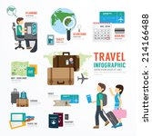 world travel business template... | Shutterstock .eps vector #214166488