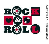red and black rock and roll... | Shutterstock .eps vector #214168399