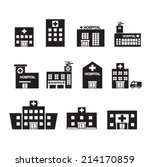 hospital icon set | Shutterstock .eps vector #214170859