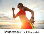 health sport young woman run... | Shutterstock . vector #214172668
