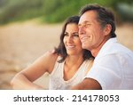 happy romantic mature couple... | Shutterstock . vector #214178053