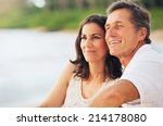 happy romantic mature couple... | Shutterstock . vector #214178080