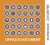 office  documents isolated... | Shutterstock .eps vector #214180780