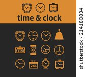 time  clock isolated icons ...