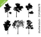 tree silhouettes vector   Shutterstock .eps vector #214186678