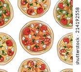 pizza  seamless pattern for... | Shutterstock .eps vector #214192558