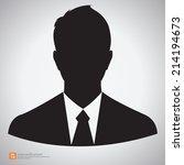 vector silhouette businessman... | Shutterstock .eps vector #214194673