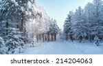 Snowy Landscape From Finland ...