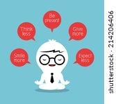 businessman meditating with... | Shutterstock .eps vector #214206406