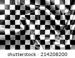 chequered flag background... | Shutterstock . vector #214208200