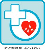 health care medical icon with... | Shutterstock . vector #214211473