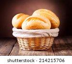 Bread In Wicker Basket On...