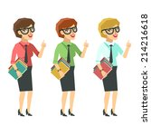 successful business woman ... | Shutterstock . vector #214216618