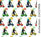 funny seamless pattern with... | Shutterstock . vector #214219906