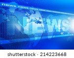 words news on digital blue... | Shutterstock . vector #214223668