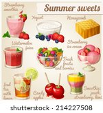 set of food icons. summer... | Shutterstock .eps vector #214227508