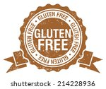 gluten free stamp with ribbon | Shutterstock .eps vector #214228936
