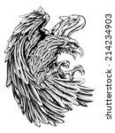 an original eagle illustration  ... | Shutterstock .eps vector #214234903