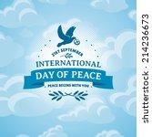international day of peace...   Shutterstock .eps vector #214236673