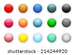 set of colored round buttons | Shutterstock .eps vector #214244920