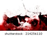 under the ruins bloody horror... | Shutterstock . vector #214256110