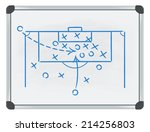 football tactic on whiteboard | Shutterstock .eps vector #214256803
