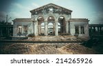 abandoned damaged old house.... | Shutterstock . vector #214265926