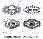 set of vintage popular hipster...   Shutterstock .eps vector #214268644