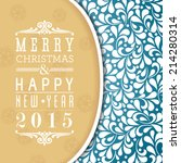vector merry christmas and... | Shutterstock .eps vector #214280314