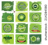 natural green label collection   Shutterstock .eps vector #214284580