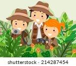 illustration featuring kids on...   Shutterstock .eps vector #214287454