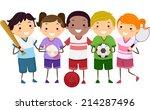 illustration featuring kids... | Shutterstock .eps vector #214287496