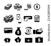 money icon | Shutterstock .eps vector #214289344