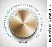 volume knob with gold texture ...