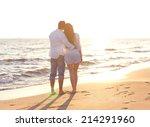 happy young romantic couple in... | Shutterstock . vector #214291960