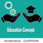 education concept vector... | Shutterstock .eps vector #214293196