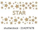 burlap star symbol isolated on...   Shutterstock . vector #214297678