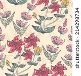 floral background. seamless...   Shutterstock .eps vector #214298734