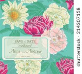 card with floral pattern  hand... | Shutterstock .eps vector #214307158
