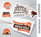 set of sale design elements | Shutterstock .eps vector #214309090