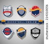 basketball emblem | Shutterstock .eps vector #214310056