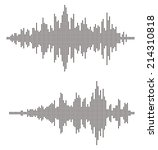 sound waves. abstract wave... | Shutterstock .eps vector #214310818